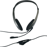 VERBATIM MULTIMEDIA HEADSET WITH MICROPHONE BLACKSILVER