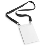 DURABLE EVENT NAMEPASS HOLDER A6 WITH DUO NECKLACE BLACK PACK 10