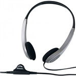 VERBATIM HEADSET MULTIMEDIA WITH VOLUME CONTROL SILVERBLACK
