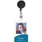 REXEL RETRACTABLE ID CARD HOLDER WITH STRAP BLACK