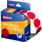 AVERY 937243 ROUND LABEL DISPENSER 24MM RED BOX 500