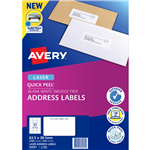AVERY 959001 L7160 QUICK PEEL ADDRESS LABEL WITH SURE FEED LASER 21UP WHITE PACK 100