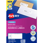 AVERY 959004 L7163 QUICK PEEL ADDRESS LABEL WITH SURE FEED LASER 14UP WHITE PACK 100