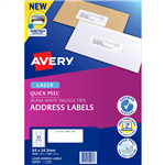 AVERY 959060 L7157 QUICK PEEL ADDRESS LABEL WITH SURE FEED LASER 33UP WHITE PACK 100