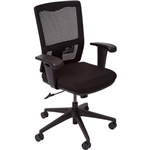 INITIATIVE DELUXE OPERATOR CHAIR MEDIUM MESH BACK ARMS BLACK