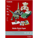 CANON MP101 MATTE PHOTO PAPER 170GSM A4 WHITE PACK 50