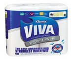 KLEENEX VIVA PAPER HAND TOWEL 225CM X 21CM 60 SHEETS PER ROLL TWIN PACK