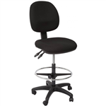 RAPIDLINE EC070BM DRAFTING CHAIR MEDIUM BACK BLACK