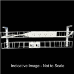RAPID DUAL TIER CABLE BASKET 950MM  GPO X 4  DATA TILES X 2  LEAD LENGTH 15M