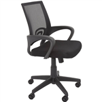 RAPIDLINE VESTA CHAIR MEDIUM MESH BACK ARMS BLACK