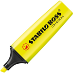 STABILO BOSS HIGHLIGHTER CHISEL YELLOW
