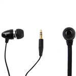 SHINTARO STEREO EARPHONE FLAT CABLE BLACK