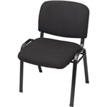 RAPIDLINE NOVA VISITORS CHAIR STACKING BLACK