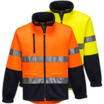 PRIME MOVER MA315 HI VIS FLEECY JACKET WITH TAPE WATER REPELLANT 2 TONE