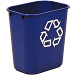 RUBBERMAID DESKSIDE RECYCLING CONTAINER WITH SYMBOL SMALL 129 LITRE BLUE 7035357