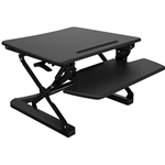 RAPID RISER MEDIUM DESK BASED ADJUSTABLE WORKSTATION 890 X 590MM BLACK
