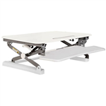 RAPID RISER MEDIUM DESK BASED ADJUSTABLE WORKSTATION 890 X 590MM WHITE