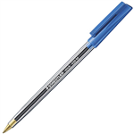 STAEDTLER 430 STICK BALLPOINT PEN MEDIUM BLUE BOX 10