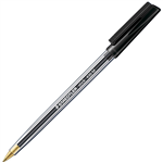 STAEDTLER 430 STICK BALLPOINT PEN MEDIUM BLACK BOX 10