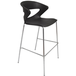 RAPIDLINE TAURUS POLY BARSTOOL CHROME BASE BLACK