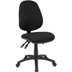 YS DESIGN TYPIST CHAIR HIGH BACK BLACK