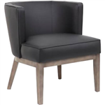 LEO COMFORT TUB CHAIR BLACK