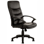 STAR EXECUTIVE CHAIR HIGH BACK ARMS PU BLACK